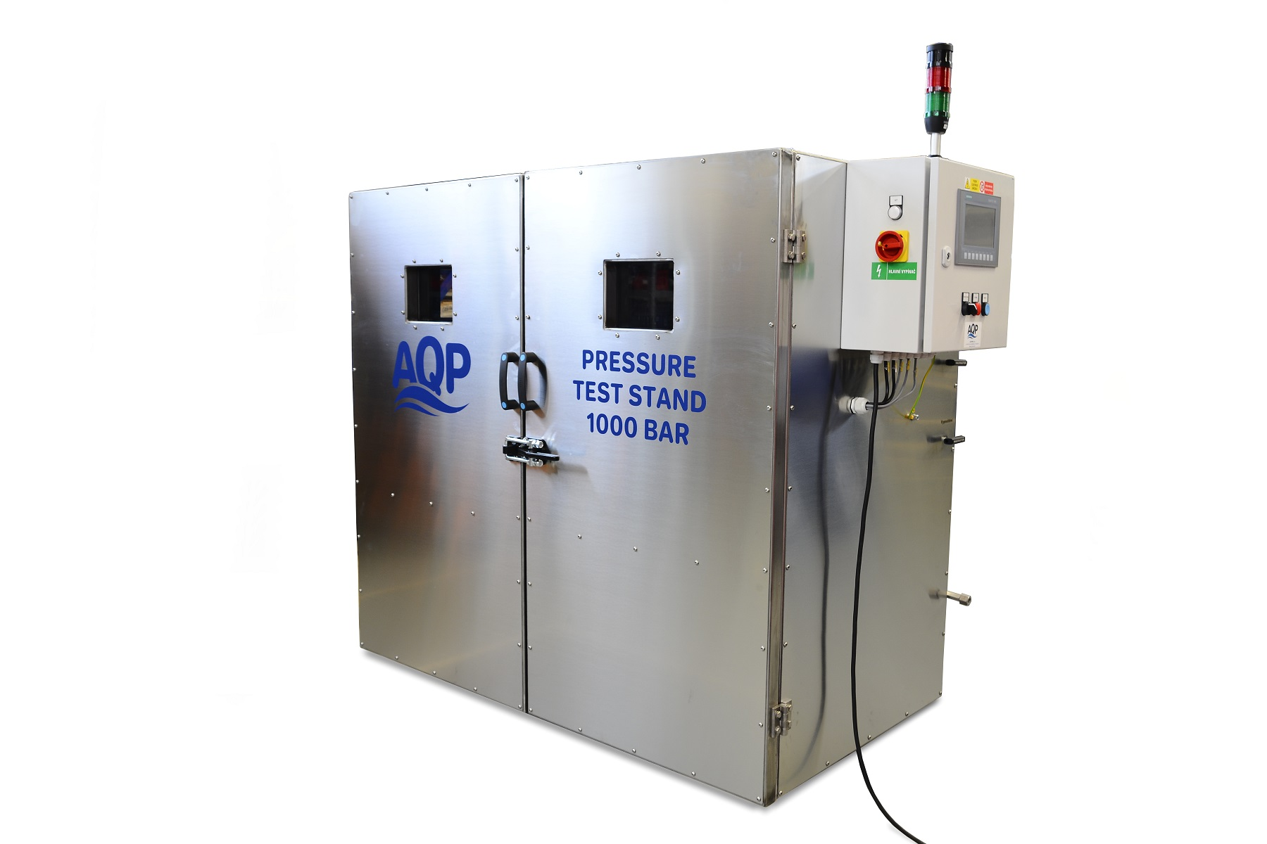 Pressure cabin for destructive pressure tests of air conditioning compressor bodies
